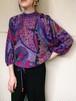 Diane freis purple geometric silk tops ( ダイアン フレイス パープル ジオメトリック シルク トップス )