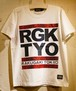 RAKUGAKI OLD SCHOOL Spangle Logo T-Shirts White x Red/Black