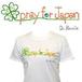 チャリティーTシャツ「pray for Japan」 女性用 Sサイズ