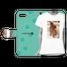 iPhonePlus・Android Lサイズ Tシャツ手帳型ケース color:ブルー
