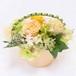 プリザーブドフラワー ギフト 幸せの花かご  オレンジ
