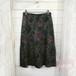 花柄裾プリーツスカート