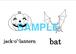 Halloween  絵+英単語 フラッシュカードデータ(白黒)