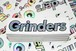 GRINDERS sparkle sticker (logo)