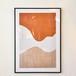 ポスター50cm×70cm /orange sky(フレーム付き)