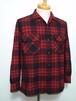 1960's PENDLETON ウールシャツ ループカラー&ボックス型 黒×赤 表記(M) ペンドルトン