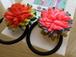 カラフル(オレンジ/ピンク)【colorful】ヘアゴム2コset