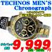 テクノス 紳士 クロノグラフ クォーツ T4684TB 定価¥38,500-(税込)