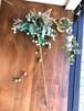 クリスマスやパーティのデコレーションに♪ キラキラゴージャスフラワー 『ブルーポインセチア』 HR4639