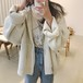 【お取り寄せ】 ニットパーカー オーバーサイズ ビッグシルエット 羽織 アウター 秋冬 長袖 防寒