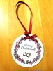 ラベンダーの香りをまとったホルンのクリスマスオーナメント♪(単品)