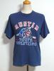 1980's FRUIT OF THE LOOM レスリングプリントTシャツ 紺 表記(14-16)