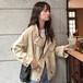 【アウター】秋の新作韓国系レトロ無地ゆったりカジュアル長袖ジャケット22489029
