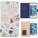 Jenny Desse iPhone 8 ケース 手帳型 カバー スタンド機能 カードホルダー グレイ(ブルーバック)