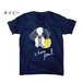 ポールTシャツ (ネイビー・チャコールグレー)
