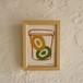 シルクスクリーンポストカード+フレーム(キウイジャムA)