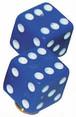 バルブキャップ サイコロ ブルー