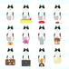 猫12種のpngセット