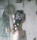 アンティークラグラス(薄紫・グリーン)とあじさいのヘッドドレス