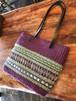 <安価版>輪織りで楽しむ、革持ち手の手提げバッグ中大キット