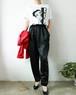 80's Black easy pants