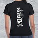 idiot-ストリートグラフィックTシャツ/レディースブラック【Distinclothオリジナル】