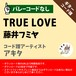 TRUE LOVE 藤井フミヤ ギターコード譜 アキタ G20190030-A0048