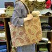 Laura Ashley paisley pattern canvas bag / Made In USA [B-201]