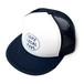 【MESH CAP】DOPE LOCAL SAKE/ホワイト x ネイビー