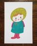 ポストカード/女の子
