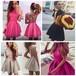 GAGAOPT パーティードレス ピンク ブラック グレー ドレス