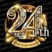 24周年PSD素材 エンブレム仕様。豪華でキラキラPhotoshop素材で周年を彩ろう!