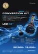 グラシアス LED コンバージョンKIT 1年保証  シングルバルブ形状!!