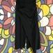 チャイハネ カヤ 麻混 和風巻きスカート風のバギーパンツ 黒ブラック