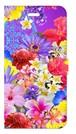【iPhone6Plus/6sPlus】 Hawaiian Flowers Garden ハワイアンフラワーズガーデン ー Blue Violet ブルーバイオレット 手帳型スマホケース