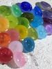 ガラスボタン candy 小 カラフル  バラ
