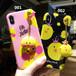 ORIGINAL iPhone Xケース かわいい アヒル 雛 iPhone8/7plus ケース クリエイティブ iphone6sカバー 個性 ペンダント付き 送料無料