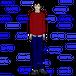 赤いトレーナーを着た男性の立ち姿(ダウンロード商品)