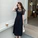 【dress】レディースファッションフェミニン切り替えデートワンピース2色
