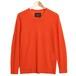 Italian Cashmere V-neck Knit -Orange
