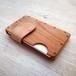 a card case チェリー×ナチュラル 無垢材と本革の名刺入れ | 木で作ったナチュラルでおしゃれな名刺入れ tackle wood design