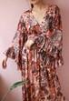 70s marble print cache-coeur dress