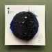 ひょうたんカフェのるり織りブローチ <NO.9…ブラック・ブルー系>