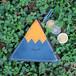 三角コインケース(ブルー)