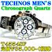 テクノス 紳士 クロノグラフ クォーツ T4554SF 定価¥35,000-(税別)