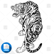 【png画像素材】虎 Lサイズ  横1916px × 縦3000px