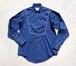 1970's [Rockmount] ビブ(胸当て)ウエスタンシャツ ネイビー 表記(15 1/2) ロックマウント