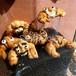 パン屋ディスプレイ 可愛い顔が描かれたクロワッサン Bakery display Kawaii croissant