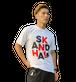 【SKANDHAL】BIG LOGO Tシャツ【ホワイト】【新作】イタリアンウェア【送料無料】《M&W》 LOGO Tシャツ【ブラック】【1点限り】イタリアンウェア【送料無料】《M&W》