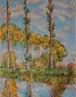 モネの風景画再構成 油絵 手描き